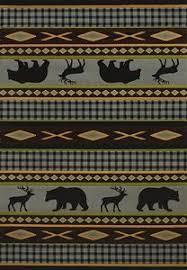 Rustic Lodge Rugs United Weavers Genesis Beige Pinecone Rug Collection Runners