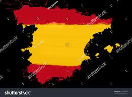 spanish flag shape country map made stock illustration 172550690