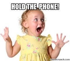 Excited Girl Meme - the phone little girl