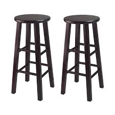 30 Inch Bar Stool Winsome Bar Stool With Square Legs 29 Inch Espresso