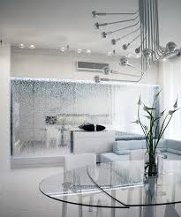 garden modern white interior design feature mirrored water wall