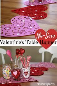 valentine s day table runner no sew valentine s heart table runner
