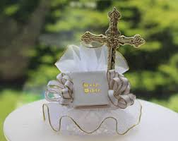 First Communion Cake Decorations Bible Cake Topper Etsy