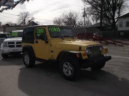 jeep wrangler automatic larry allen motor car company inc