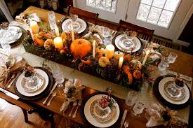 thanksgiving candles and pumpkins centerpiece pictures photos
