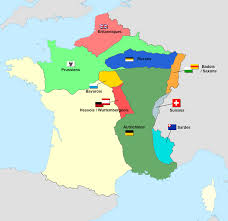 Europe 1815 Map by Allied Occupation Of France 1815 Maps Pinterest