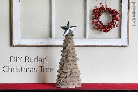 diy tree decor rustic burlap crafts unleashed