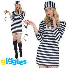 Womens Prisoner Halloween Costume Womens Convict Costume Ebay
