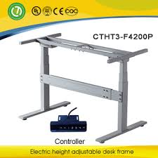 china customized table standing desk and electric height