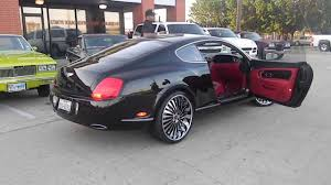 black bentley interior bentley continental gt on 22 inch autonomo forgiatos youtube