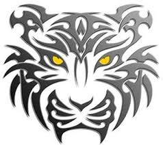 black ink tribal tiger design