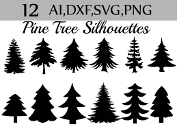 svg pine tree clipart silhouettes pine tree