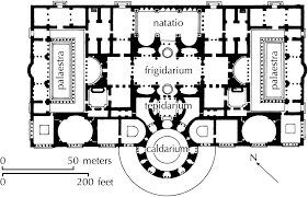 baths of caracalla floor plan plan of the therms of caracalla urb rome ancient pinterest