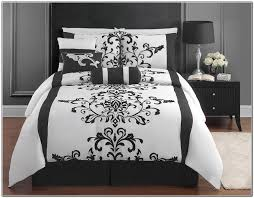 White Bed Set Full Black And White Bedding King Size Beds Home Design Ideas
