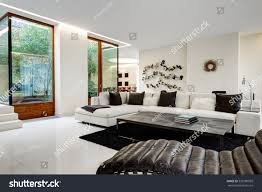large comfortable living room white sofa stock photo 520780999