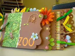 Chipboard Albums Monkey Business Scrapbook Lounge Zoo Chipboard Album Class