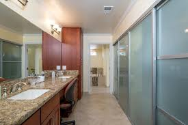 modern master bathroom with crown molding by remodel works bath