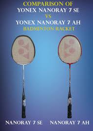 yonex table tennis rackets comparison of yonex nanoray 7se vs yonex nanoray 7ah khelmart org