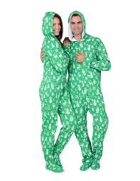 nordic hoodie cotton footed pajamas