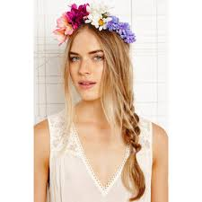 flower hair band flower crowns polyvore