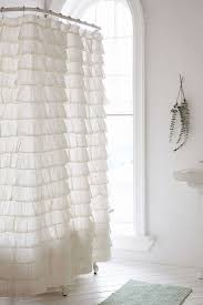 Ruffle Shower Curtain Anthropologie Fantastic Ivory Ruffle Shower Curtain Pictures Inspiration