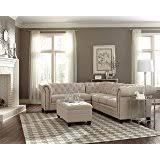 Chesterfield Sectional Sofa Amazon Com Homelegance Savonburg 135 U201c Fabric Chesterfield