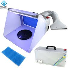spray booth extractor fan ophir 25w led light airbrush spray booth exhaust filter extractor