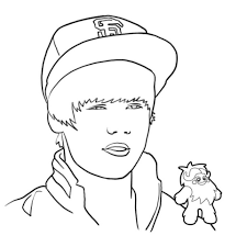 coloring justin bieber coloring pages