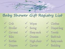 gift registry for needed baby items baby shower ideas and