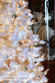 White Christmas Tree With Gold Decorations 35 Best Wonderful White Images On Pinterest White Christmas