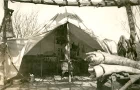 james m hamilton u0027s wall tent and camping gear msu historic photo