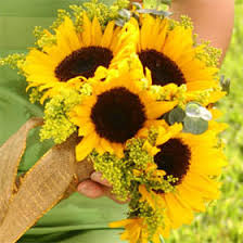 sunflower bouquets vibrant sunflower bridesmaids bouquets global