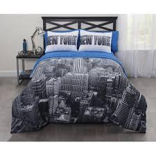 New York Bed Set Casa Photoreal New York City Bed In A Bag Comforter Set Walmart