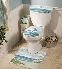 Bathroom Contour Rugs Nautical Bath Toilet Cover Contour Rug Plus One Bath Mat