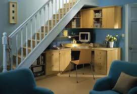 Smart Under Stairs Home Office Designs Rilane - Functional home office design