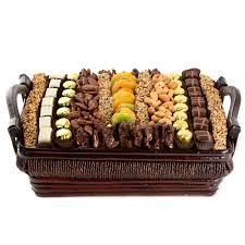 fruit and nut baskets large chocolate dried fruit and nut gift basket oh nuts