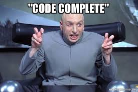 Code Meme - code complete dr evil austin powers make a meme
