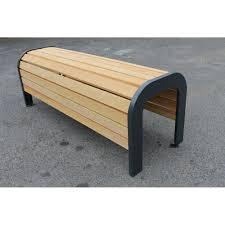 curved frame hardwood bench the glenridding logic