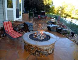 patio ideas stone patio ideas with fire pit cheap ideas for