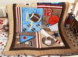 Baby Boy Sports Crib Bedding Sets New 7pcs Baby Bedding Set Baseball Baby Boy Sports Crib Bedding