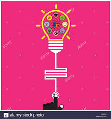 Flat Light Bulb Infographic Template Creative Light Bulb And Brain Education And