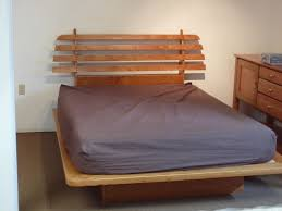 hand crafted floating platform bed by natural choice furniture