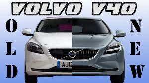 old volkswagen volvo old volvo v40 vs new volvo v40 facelift youtube