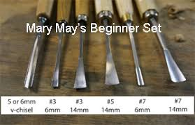 Wood Carving Tools Beginners Set by Mary May Beginner Woodcarver Set Chippingaway