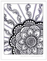 download free zen flowers coloring pages doodles