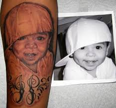 smiling baby face tattoo design in 2017 real photo pictures
