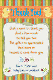 surprise baby shower thank you note choice image baby shower ideas