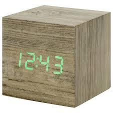 buy gingko click clock cube led alarm clock john lewis