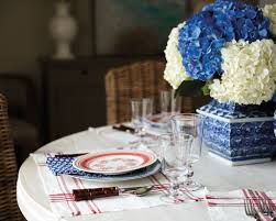 a festive red white and blue summer table how to decorate