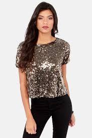 pretty gold top sequin top sleeve top 63 00
